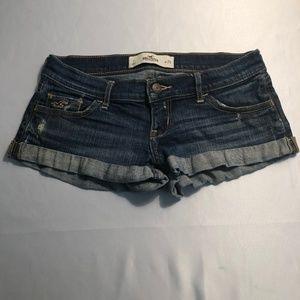 Hollister Low Rise Mini Shorts.